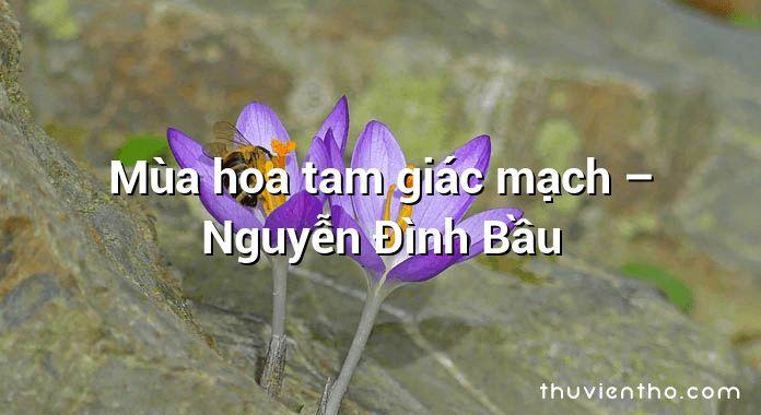 Mùa hoa tam giác mạch – Nguyễn Đình Bầu