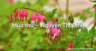 Mùa thu – Nguyễn Thị Định