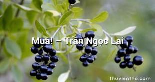 Mưa! – Trần Ngọc Lai