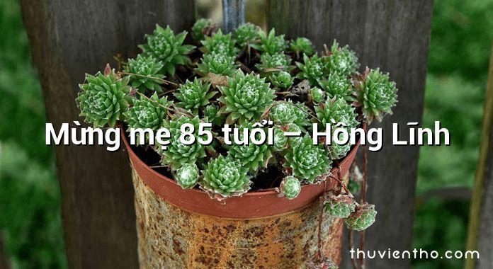 Mừng mẹ 85 tuổi – Hồng Lĩnh