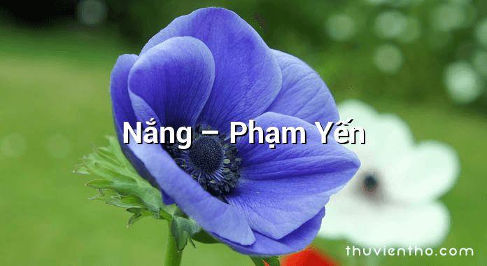 Nắng – Phạm Yến