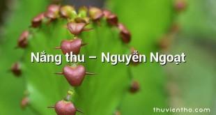 Nắng thu – Nguyễn Ngoạt
