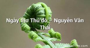 Ngày thơ Thủ đô – Nguyễn Văn Thái