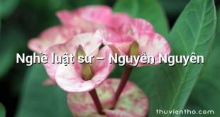 Nghề luật sư – Nguyễn Nguyên