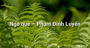 Ngõ quê – Phạm Đình Luyến