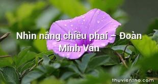 Nhìn nắng chiều phai – Đoàn Minh Vân