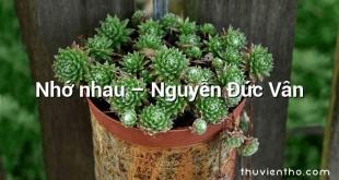 Nhớ nhau – Nguyễn Đức Vân