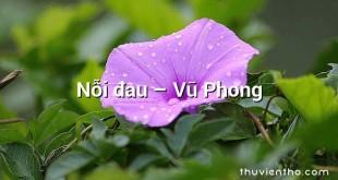 Nỗi đau – Vũ Phong