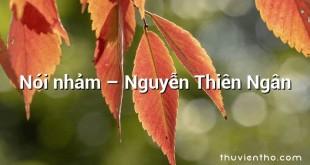 Nói nhảm – Nguyễn Thiên Ngân