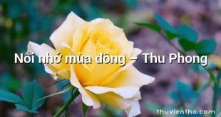 Nỗi nhớ mùa đông – Thu Phong