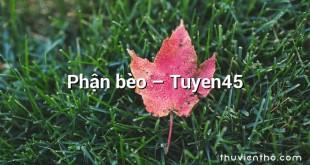 Phận bèo – Tuyen45