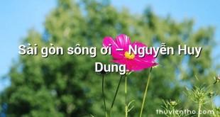 Sài gòn sông ơi – Nguyễn Huy Dung