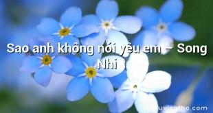 Sao anh không nói yêu em – Song Nhi