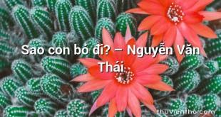 Sao con bỏ đi? – Nguyễn Văn Thái