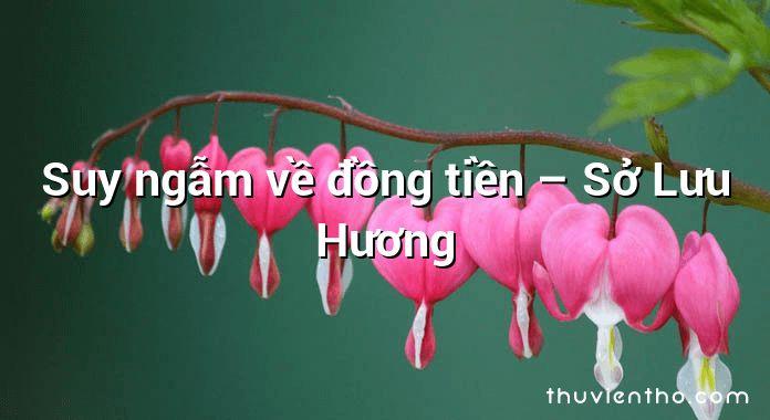 Suy ngẫm về đồng tiền – Sở Lưu Hương