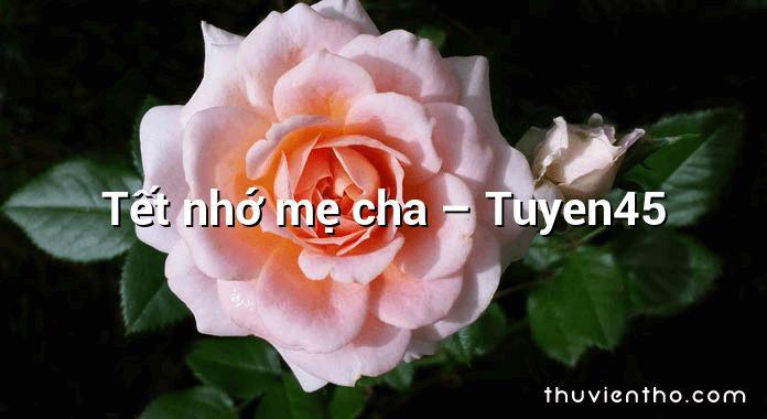 Tết nhớ mẹ cha – Tuyen45