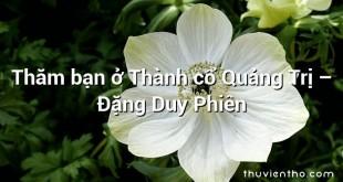 Thăm bạn ở Thành cổ Quảng Trị – Đặng Duy Phiên