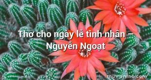 Thơ cho ngày lễ tình nhân – Nguyễn Ngoạt