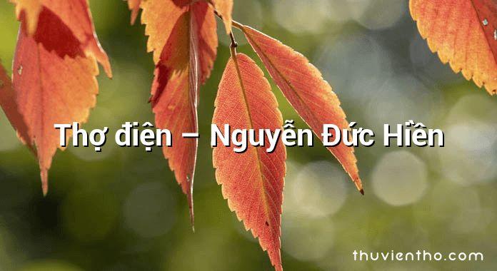 Thợ điện – Nguyễn Đức Hiền