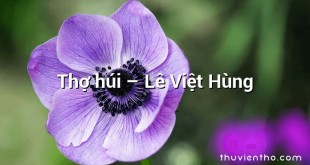 Thợ húi – Lê Việt Hùng