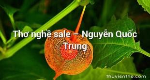 Thơ nghề sale – Nguyễn Quốc Trung