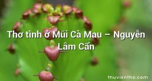 Thơ tình ở Mũi Cà Mau – Nguyễn Lâm Cẩn