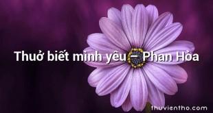 Thuở biết mình yêu – Phan Hòa