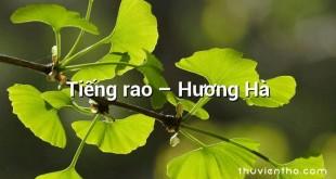 Tiếng rao – Hương Hà