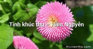 Tình khúc thu – Hiền Nguyễn