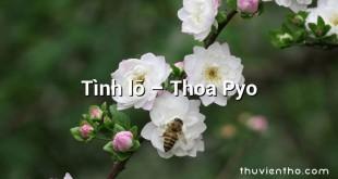 Tình lỡ – Thoa Pyo