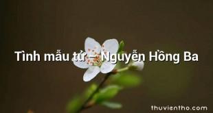 Tình mẫu tử – Nguyễn Hồng Ba