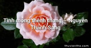 Tình mộng thênh thang – Nguyễn Thành Sáng