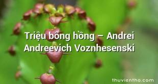 Triệu bông hồng – Andrei Andreevich Voznhesenski