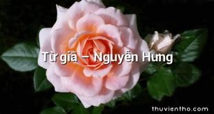 Từ giã – Nguyễn Hưng