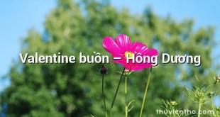 Valentine buồn – Hồng Dương