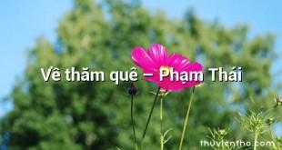 Về thăm quê – Phạm Thái