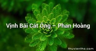 Vịnh Bãi Cát Ông – Phan Hoàng