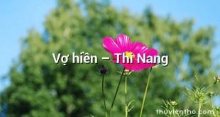 Vợ hiền – Thi Nang