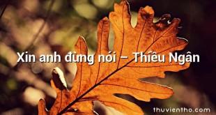 Xin anh đừng nói – Thiều Ngân
