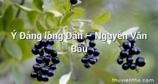 Ý Đảng lòng Dân – Nguyễn Văn Báu