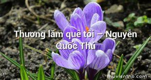 Thương lăm quê tôi – Nguyễn Quốc Thủ