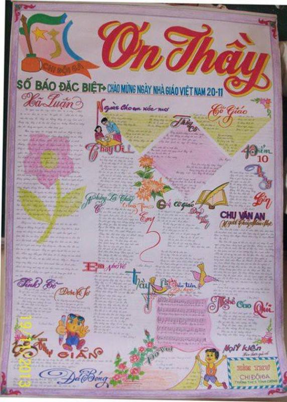 top 20 bai tho bao tuong hay va y nghia nhat ngay nha giao viet nam 4 - Top 20 Bài thơ báo tường hay và ý nghĩa nhất ngày nhà giáo Việt Nam