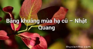 Bâng khuâng mùa hạ cũ – Nhật Quang