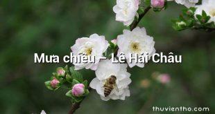 Mưa chiều – Lê Hải Châu