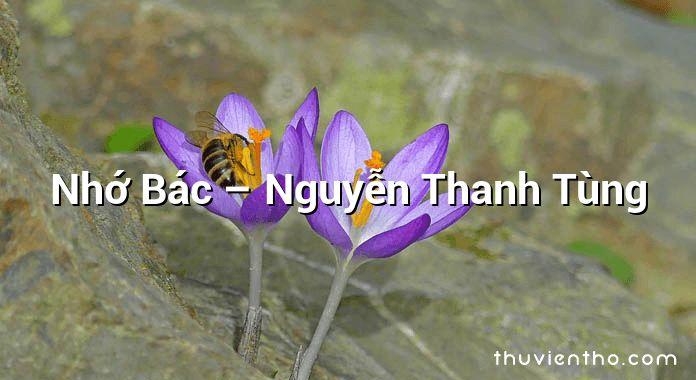 Nhớ Bác – Nguyễn Thanh Tùng